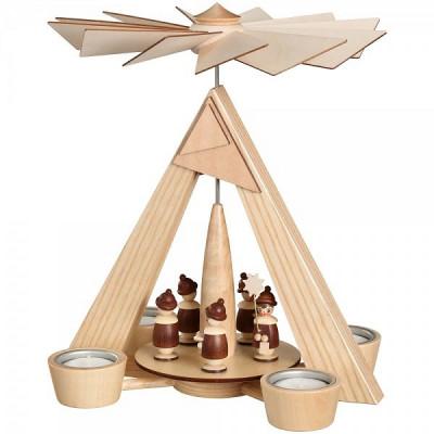 Teelichtpyramide Kurrende natur