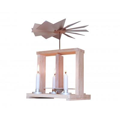 Moderne Tischpyramide Eiche weiß geölt