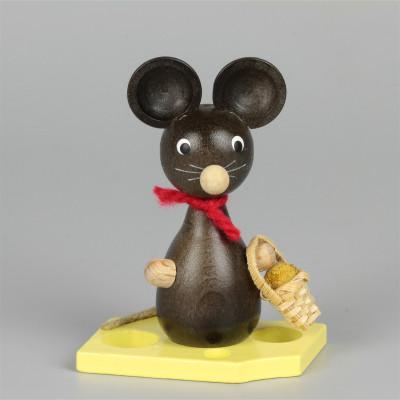 Mäusekind mit Blumenkörbchen