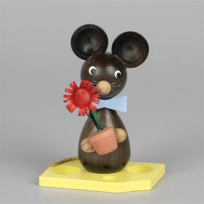 Mäusekind mit Blumen