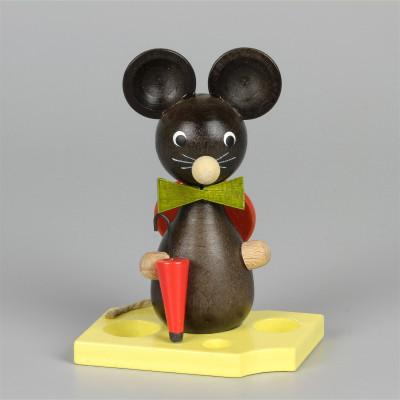 Mäusekind mit Schirm und Hut