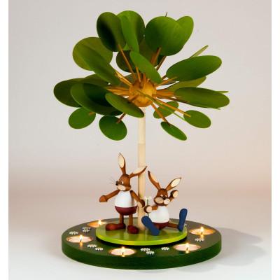Teelichtpyramide Jahreszeitenbaum Frühlingserwachen, unbestückt