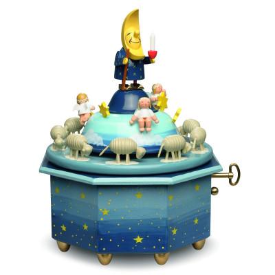 Spieldose Mondvater mit Engeln