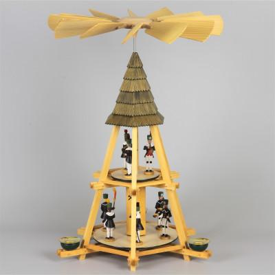 Göpelpyramide mit Bergmännern