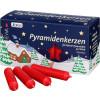 Pyramidenkerzen rot, 50 Stück, 14 mm