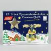 Premium-Teelichter für Pyramiden, 12 Stück, weiß, Kunststoff