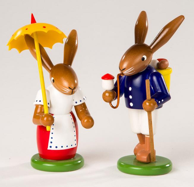 Hasenpaar Osterspaziergang