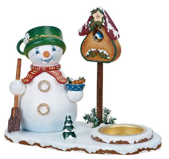 Winterkinder Teelichthalter mit Wichtel Schneemann