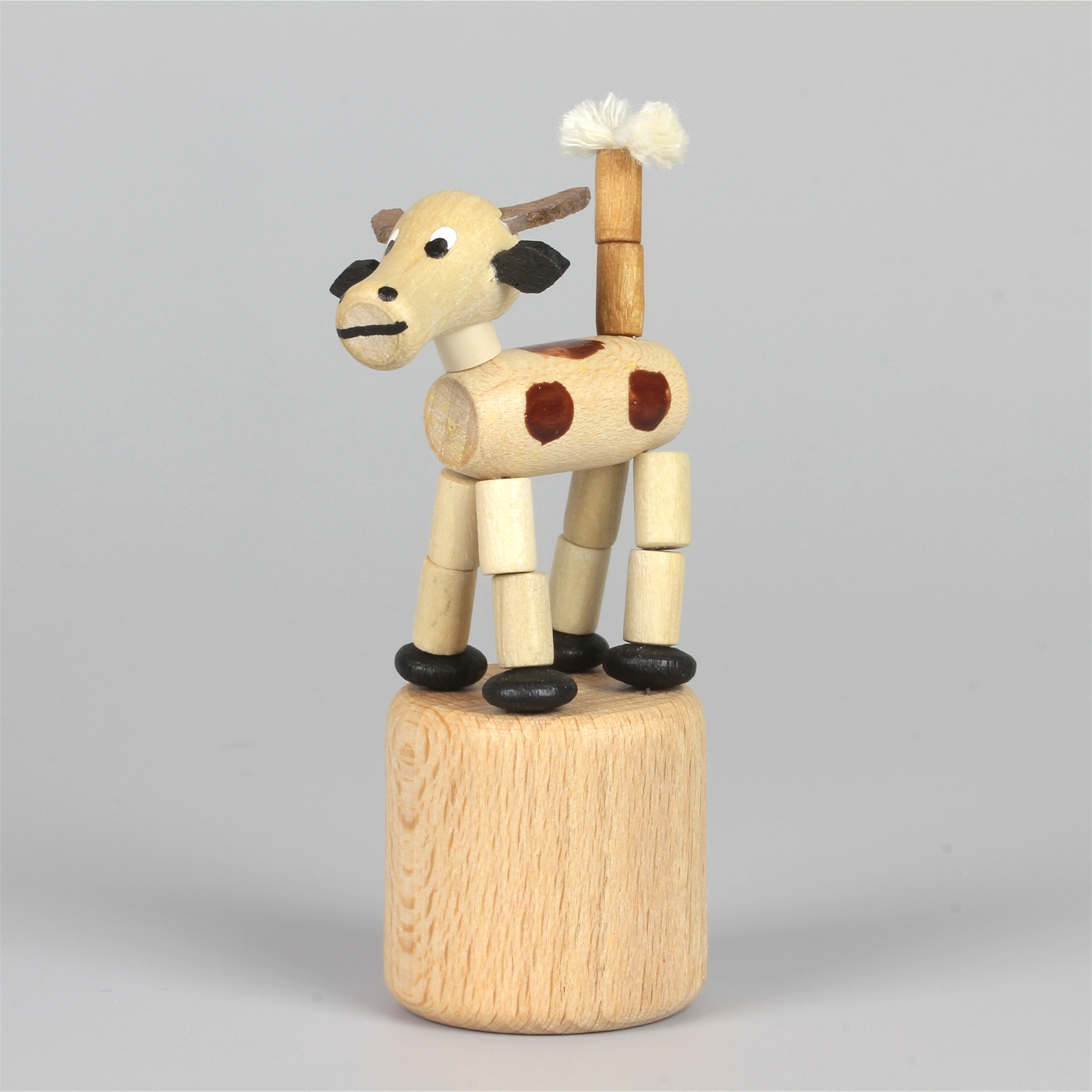 Seiffener Wackelfigur Wackeltier Kuh