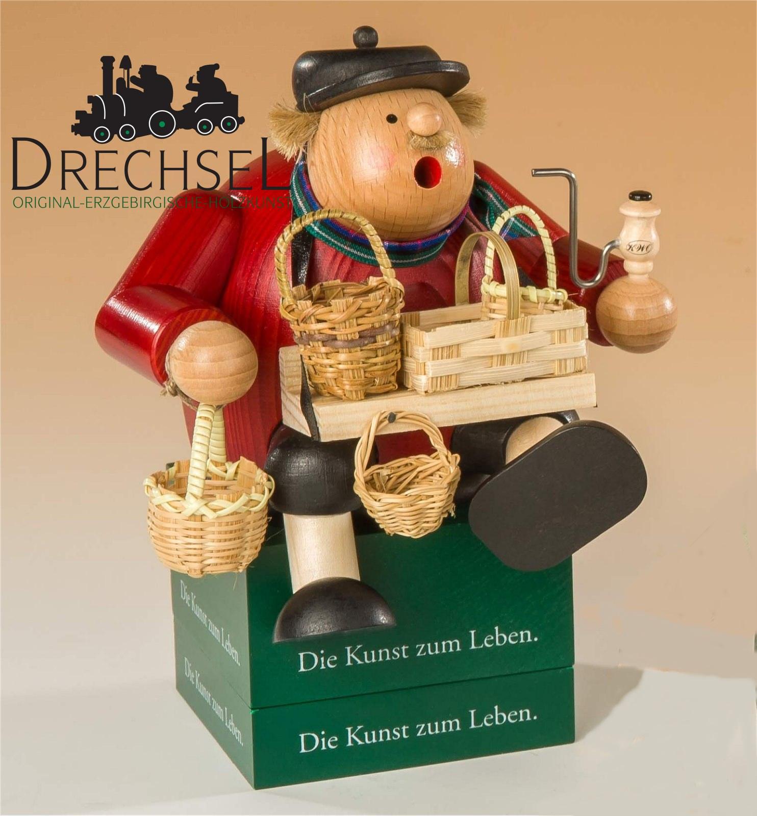 Räuchermännchen Kantenhocker Korbhändler, Exklusiv-Edition